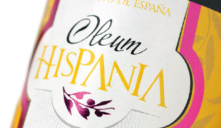 Packaging para botellas de aceite Oleum Hispania.