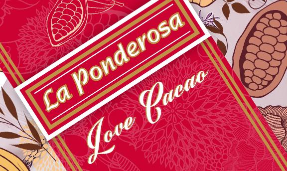 Diseño love cacao para el packaging de lata La Ponderosa.