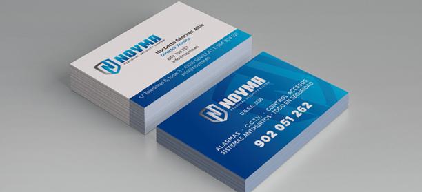 Diseño papelería corporativa para la empresa Noyma.