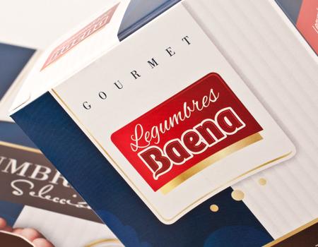 Diseño de caja de legumbres para la empresa Baena.