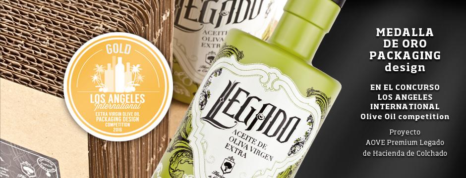 Premio en packaging aceite para Hacienda de Colchado
