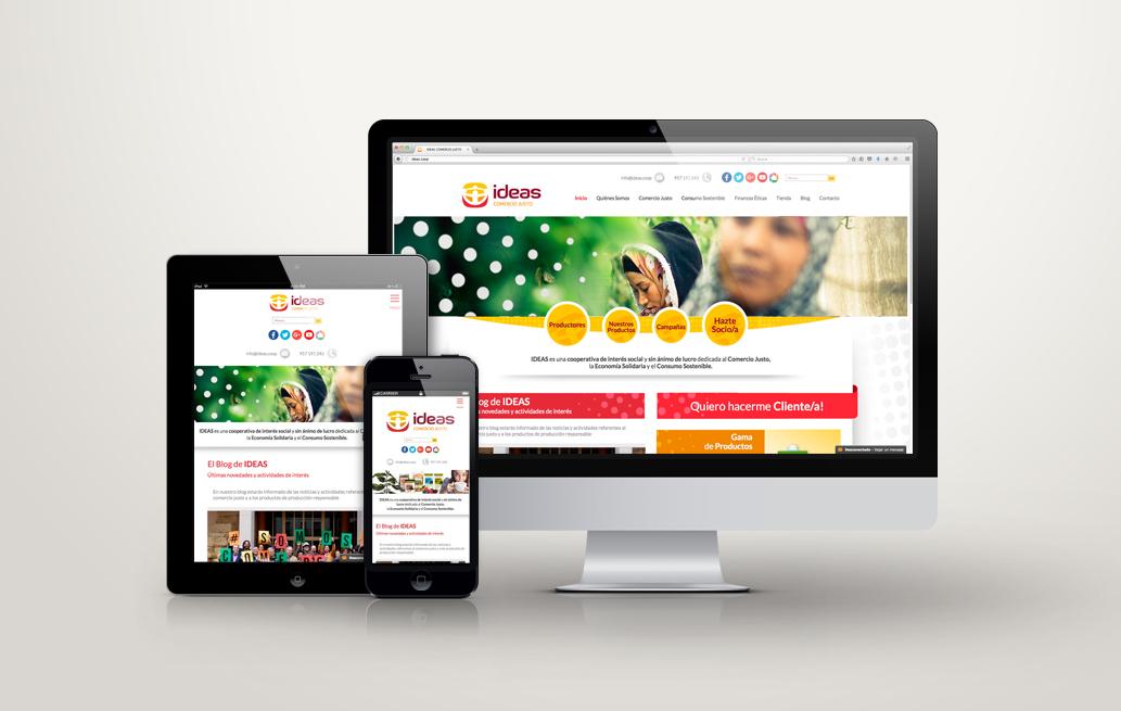 "Diseño web Ideas ""proyecto a medida"""