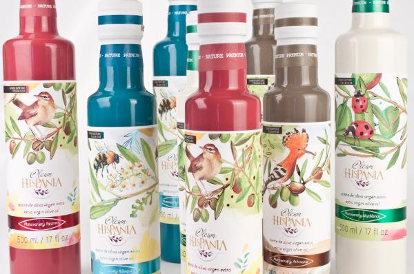 4 Nuevos premios de packaging para aceite en USA. Diseño de etiquetas para aceite de oliva Gama Nature de Oleum Hispania