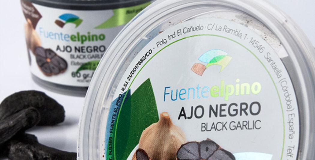 Diseño de etiqueta ajo negro