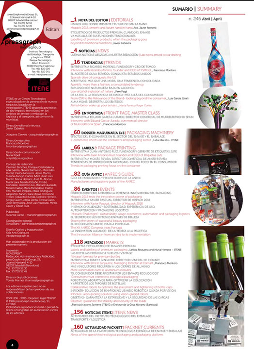 InfoPack Publicación sobre packaging