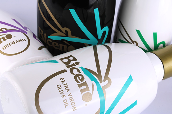 Biceno packaging aceite para Italia