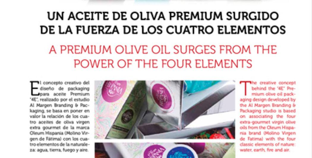 Un aceite de oliva premium surgido de la fuerza de los cuatro elementos