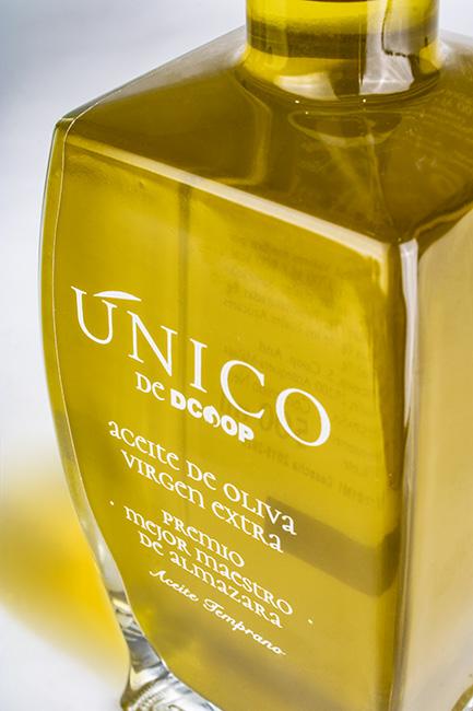 Packaging Premium aceite de oliva Dcoop. Aceites de Oliva Premios Mejor Maestro de Almazara Dcoop