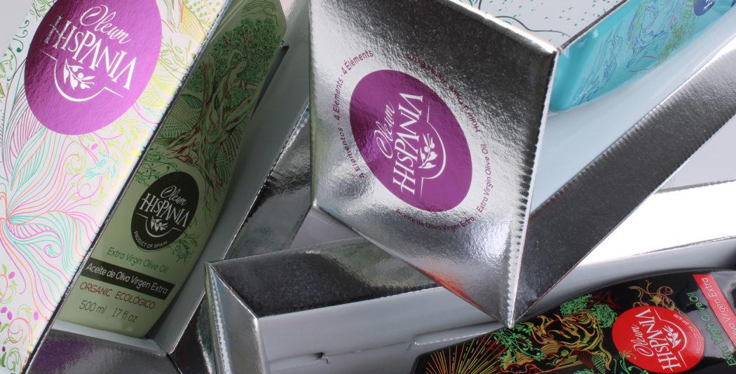 4E diseño packaging aceite premium