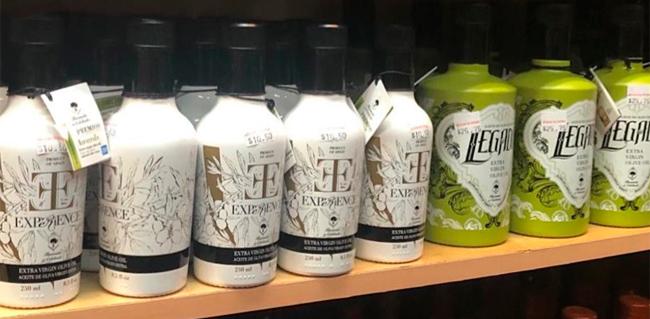 Diseño de packaging aceite oliva exportación USA