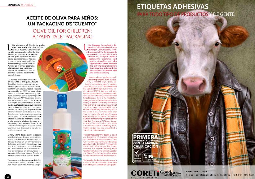 Aceite de Oliva para niños: un packaging de cuento