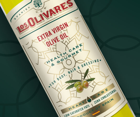 Packaging aceite Los Olivares