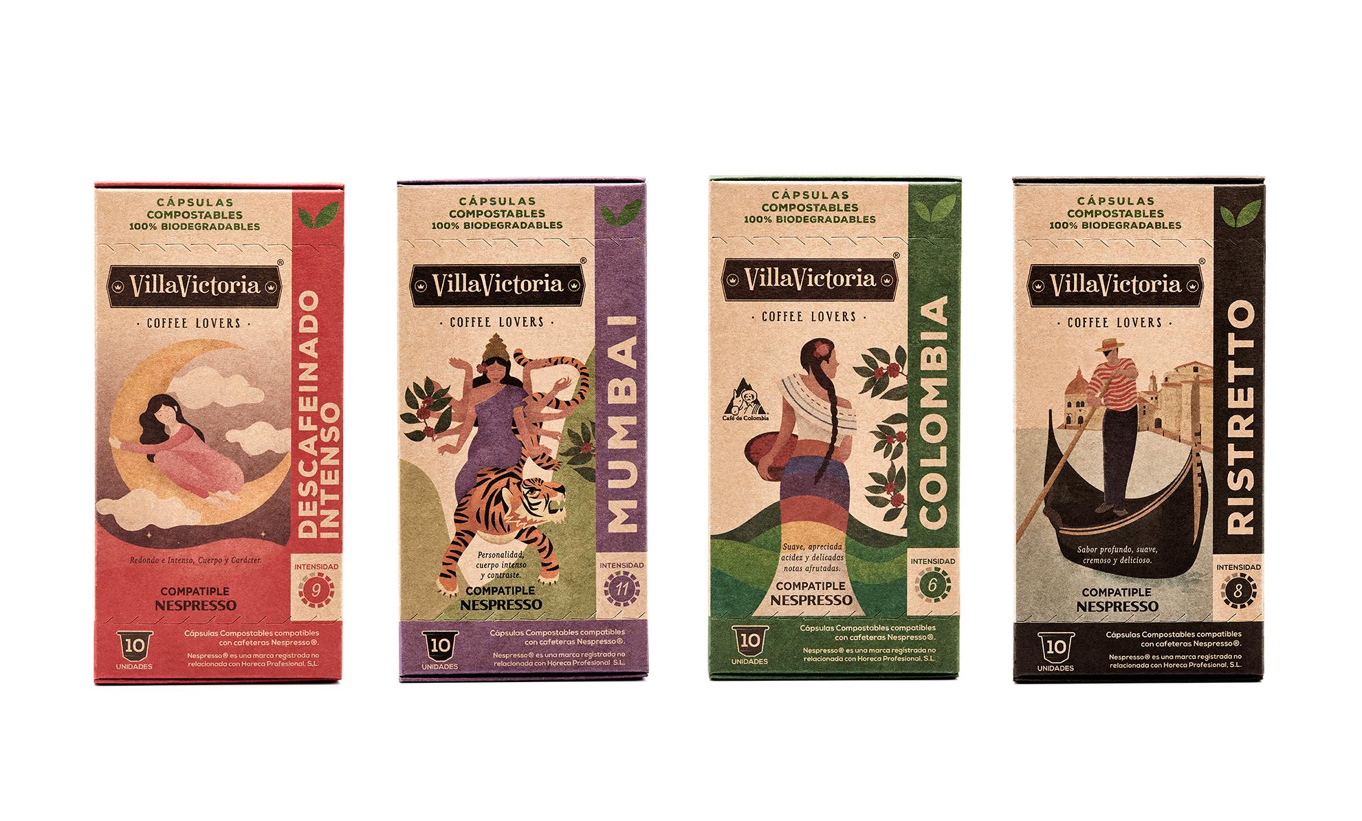 Packaging café VillaVictoria