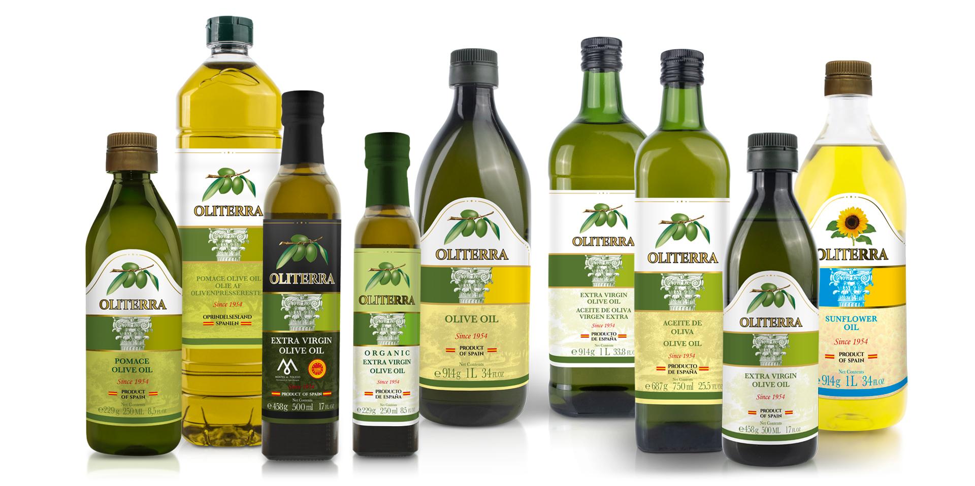 Oliterra, marca líder de Aceites Toledo. Packaging aceite.
