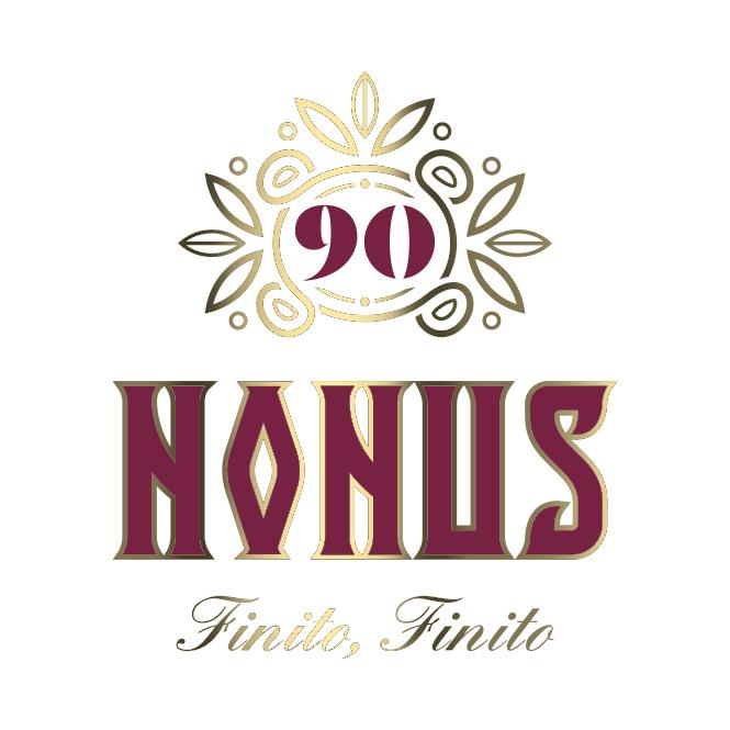 Nonus 90 brand ¡Finito finito! Branding Nonus diseño de logotipo y claim de comunicación.